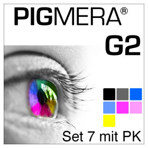 farbenwerk Pigmera G2 7-Flaschen-Set mit Photo-Black