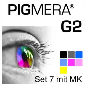 farbenwerk Pigmera G2 7-Flaschen-Set mit Matte-Black