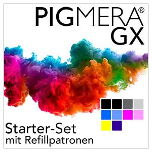 Starter-Set mit Refillpatronen - Pigmera GX SC-P900 (ohne...