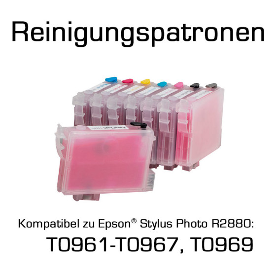 Cleaning Cartridges for Epson Photo R2880 (T0961-T0967, T0969) 8 Cartridges