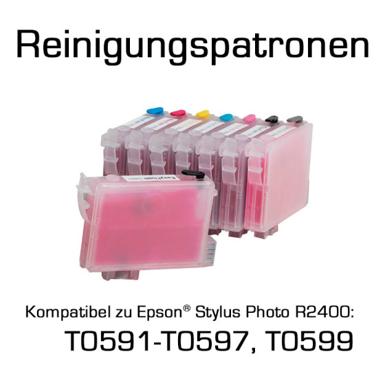 Cleaning Cartridges for Epson Photo R2400 (T0591-T0597, T0599) 8 Cartridges