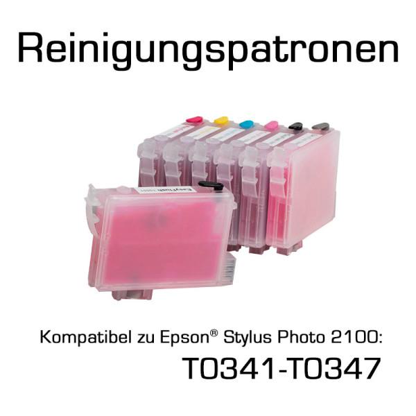 Reinigungspatronen für Epson Photo 2100 (T0341-T0347) 7 Patronen
