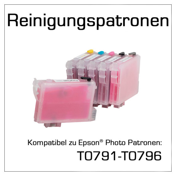 Cleaning Cartridges for Epson T0791-T0796
