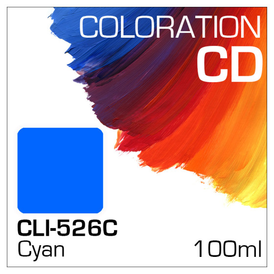 Coloration CD Flasche 100ml CLI-526C Cyan