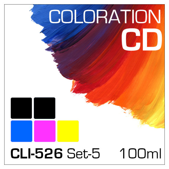 Coloration CD 100ml CLI-526/PGI-525 5-Flaschen Set