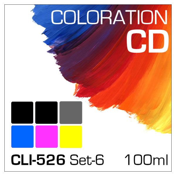 Coloration CD 100ml CLI-526/PGI-525 6-Flaschen Set
