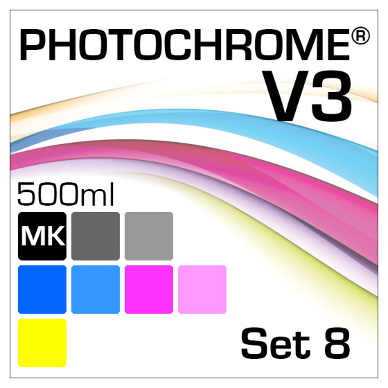 PhotoChrome V3 8-Flaschen Set 500ml Matte-Black
