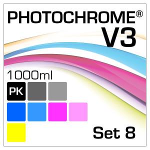Photochrome V3 8-Flaschen Set 1000ml Photo-Black
