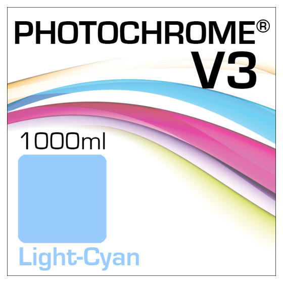 Photochrome V3 Tinte Flasche 1000ml Light-Cyan