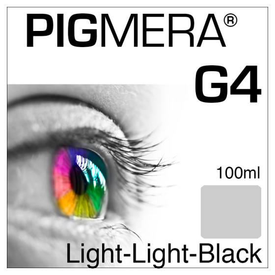 farbenwerk Pigmera G4 Flasche Light-Light-Black 100ml