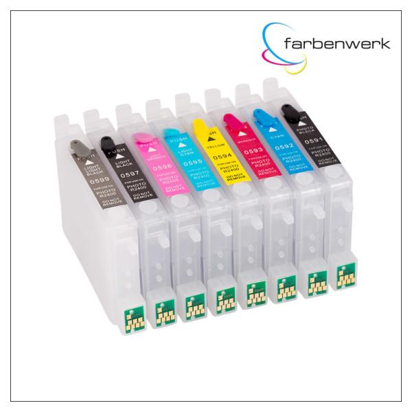 RCS Refillable 8-Cartridge-Set ARC T0591-T0599 PK