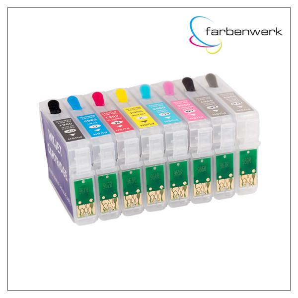 RCS Refillable 8-Cartridge-Set ARC T0961-T0969 PK
