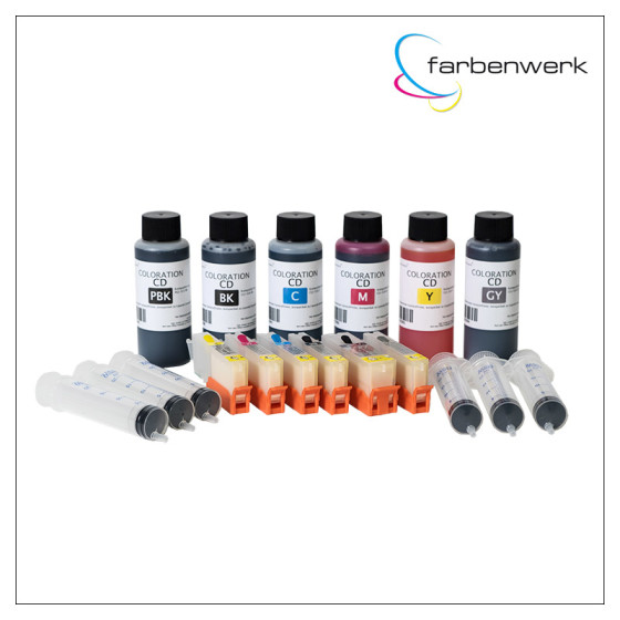 Starter-Set Coloration CD 100ml CLI-571/PGI-570 (6 Patronen)