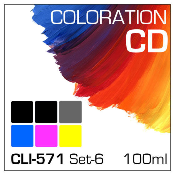 Coloration CD 100ml CLI-571/PGI-570 6-Flaschen Set