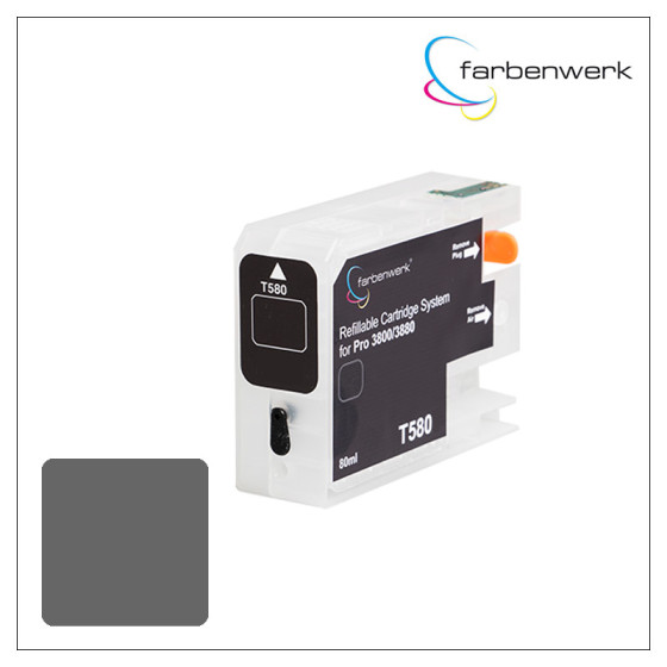 Refillable Cartridge with Autoreset Chip Pro 3880 T5807 Light-Black