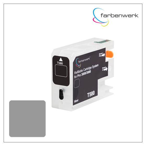 Refillable Cartridge with Autoreset Chip Pro 3880 T5809 Light-Light-Black