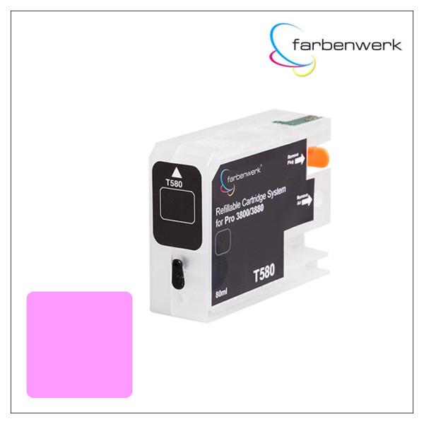 Refillable Cartridge with Autoreset Chip Pro 3880 T580B Vivid Light-Magenta