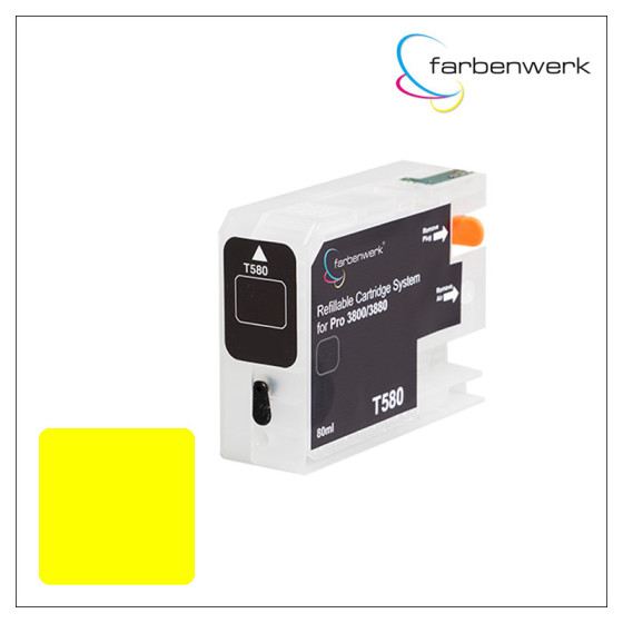 Refillable Cartridge with Autoreset Chip Pro 3880 T5804 Yellow