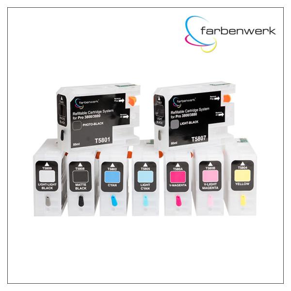 Refill Cartridge Set 80ml Autoreset Pro 3880
