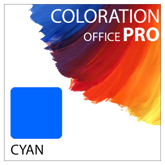 Coloration Office Pro Flasche Cyan