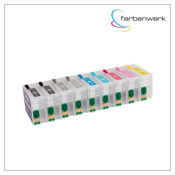 Nachfüllpatronen-Set mit Autoreset Chip T1571-T1579