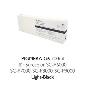 Kompatible Tintenpatrone Pigmera G6 700ml T8047 Light-Black