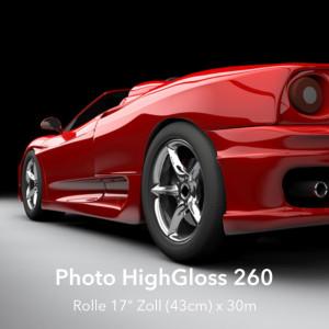 "farbenwerk Photo HighGloss 260 Rolle 17"" (43cm) x 30m"