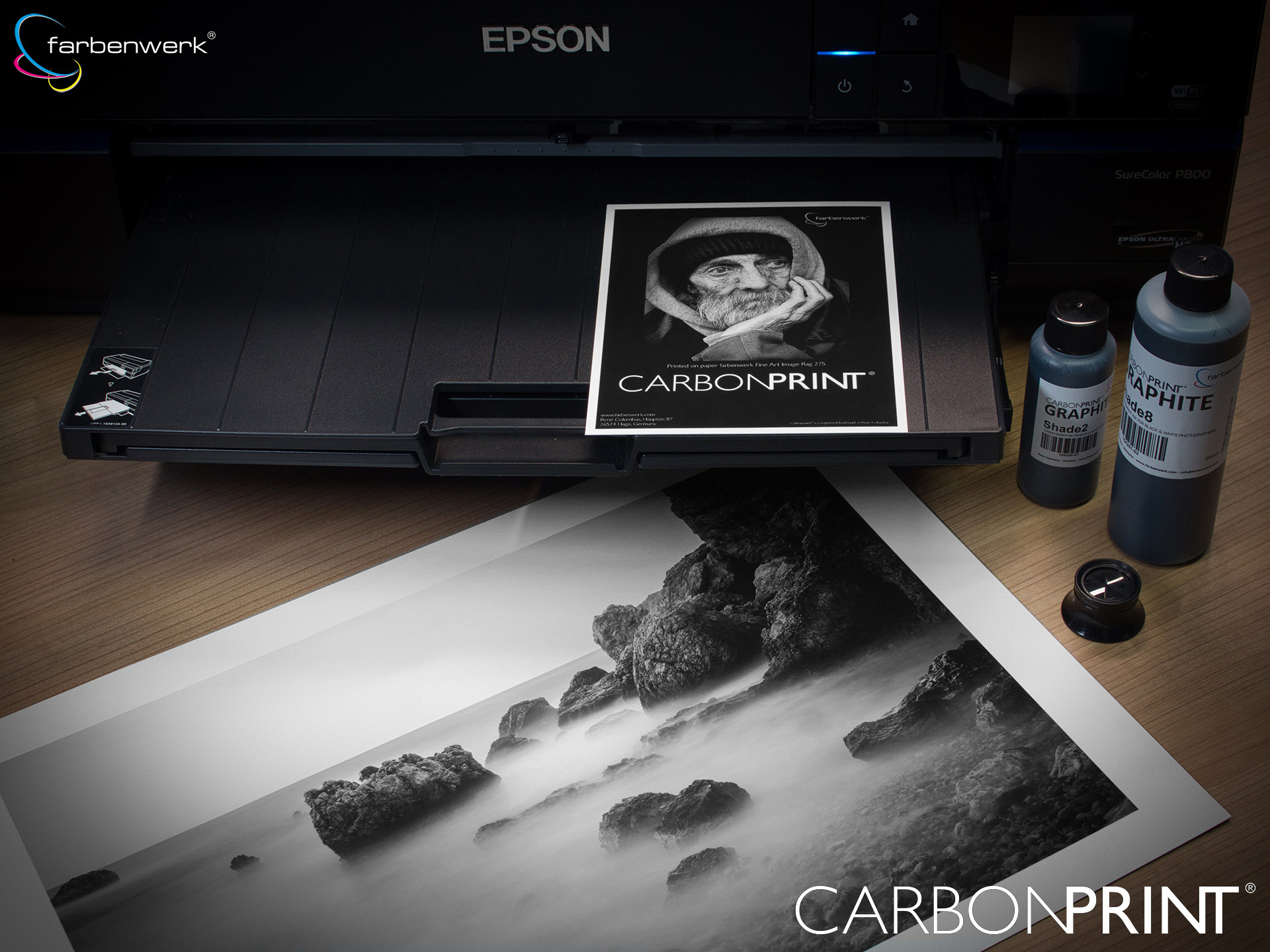 Carbonprint Graphite in einem Epson Surecolor SC-P800