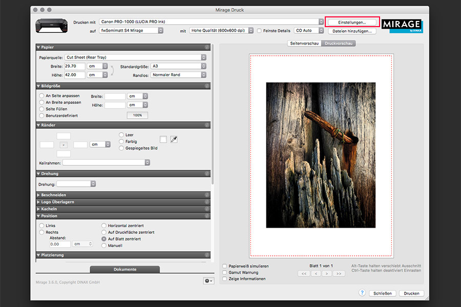 farbenwerk ICC-Profile in Mirage verwenden - Bild 2